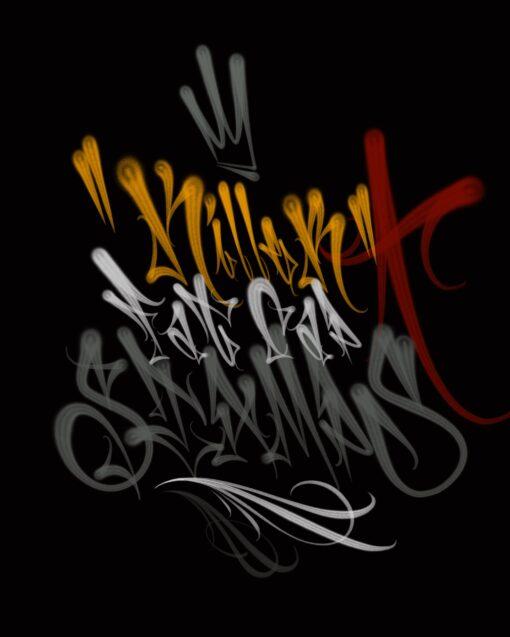 Graffiti flare Fat Cap Brushes Procreate Torus 1