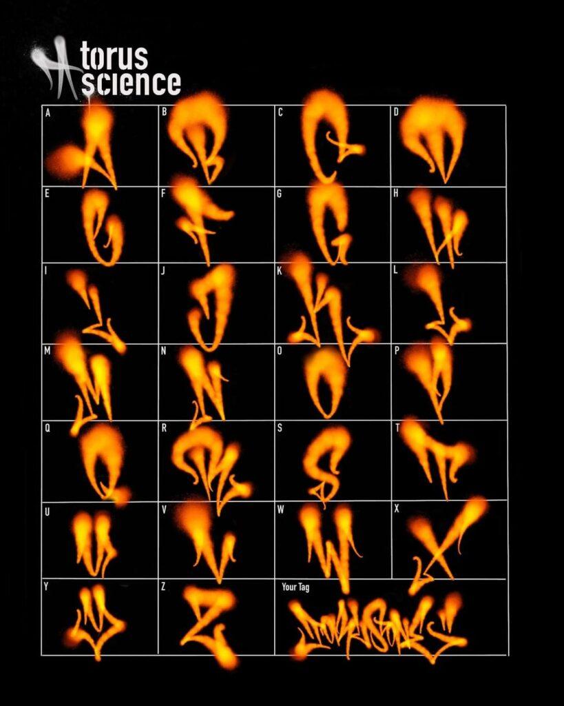 Flame Graffiti Alphabet by Torus1