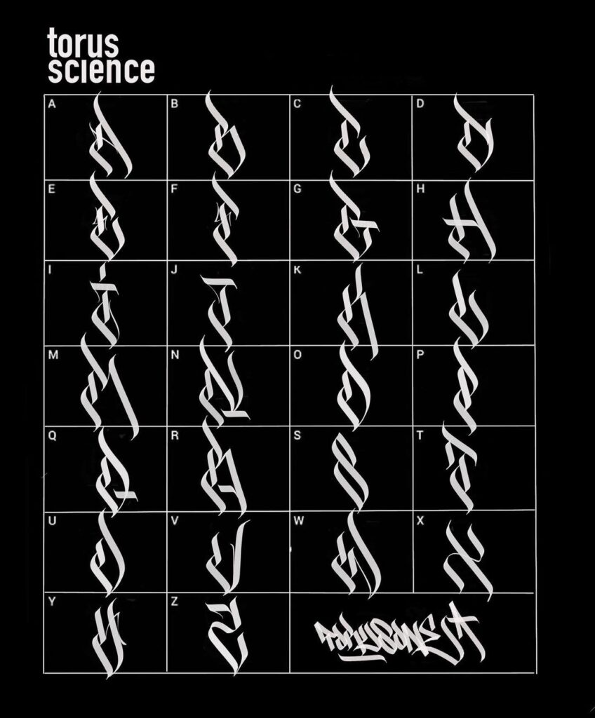 Calligraffiti Alphabet by torus1