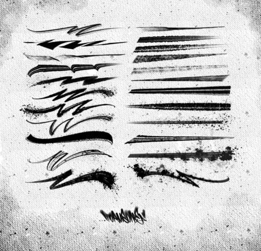 Dirty Ink Ruling Brush Pack